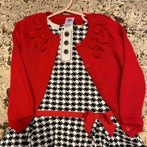 Dress with matching sweater